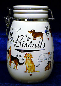 Dog Treats Jar Or Ceramic Biscuit Storage Jar Container