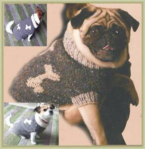 Details about Dog coat knitting pattern. fits Pug dog.