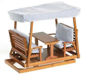 Dollhouse Miniature Garden Patio Outdoor Furniture Glider