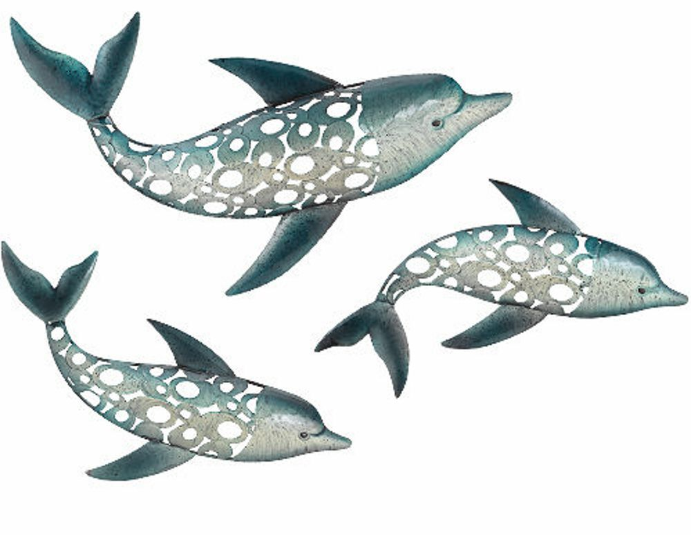 Metal fish art for Fish wall decor