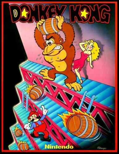 Donkey Kong POSTER Nintendo 1981 Video Arcade Game Rare in Entertainment Memorabilia, Video Game Memorabilia | eBay