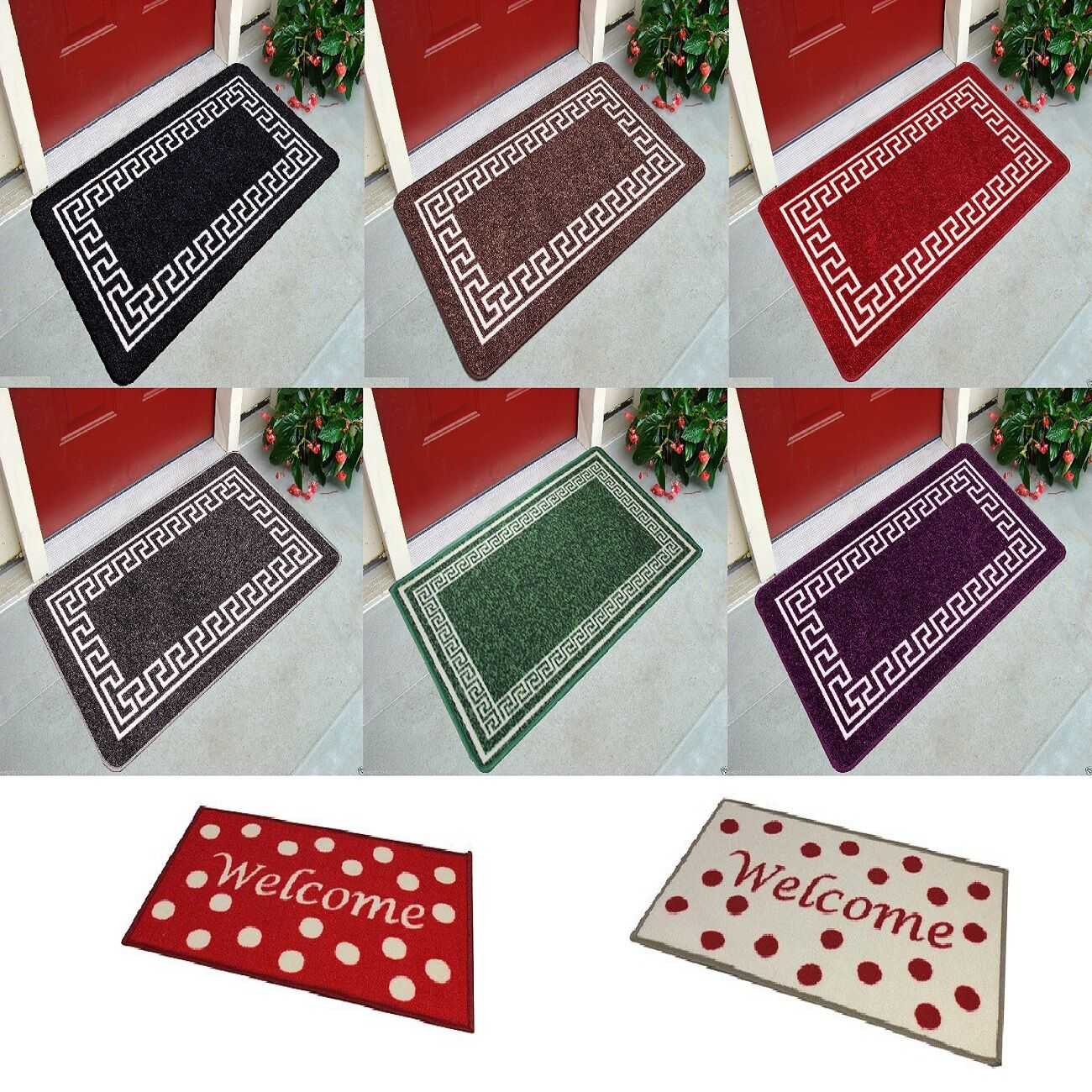 Door Mats Washable Kitchen Rugs Hall Runners Utility Mat