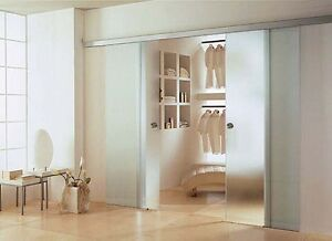doppel glasschiebet r 2 fl gelig satiniert matt 2x 1025x2175 mm bps 1025 2 dpl ebay. Black Bedroom Furniture Sets. Home Design Ideas