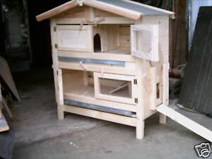 doppelst ckiger gro er hasenstall kaninchenstall xxl ebay. Black Bedroom Furniture Sets. Home Design Ideas