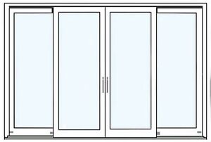doppelte schiebet r 3000x2000 mm balkont r terrassent r fenster neu ebay. Black Bedroom Furniture Sets. Home Design Ideas
