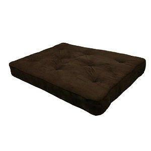 """Dorel Home Products Coil 8"""" Full Size Chocolate Futon"""