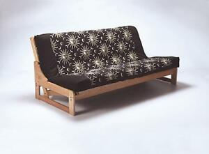 Double solid wood futon sofabed frame Wooden sofa bed