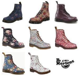 Dr-Doc-Martens-1460-Womens-Flower-Boots-various-Leather-or-Textile-NEW-BOX