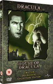Dracula / House Of Dracula (DVD 2004) 2 Disc Collector's Edition - Excellent Con