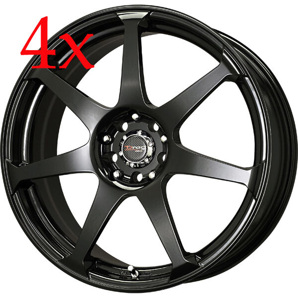Drag Wheels DR 33 14x5 5 4x100 4x114 3 et35 Gloss Black Rims CRV RDX