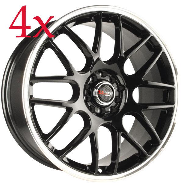 Drag Wheels DR 34 16x7 5x100 5x114 3 et40 Gloss Black Rims TC Lancer