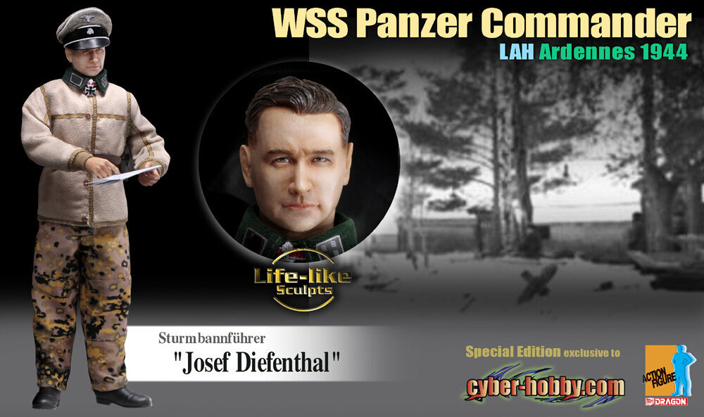 "Dragon Cyber-Hobby 1/6 Scale 12"" WWII German Commander Josef Diefenthal Action Figure 70710 70710"