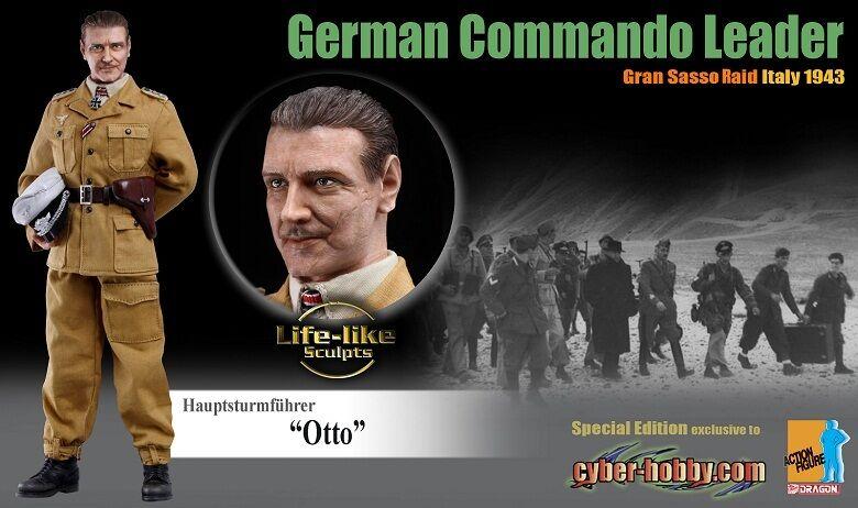 "Dragon Cyber-Hobby 1/6 Scale 12"" WWII German Commando Leader Otto Figure 70467"