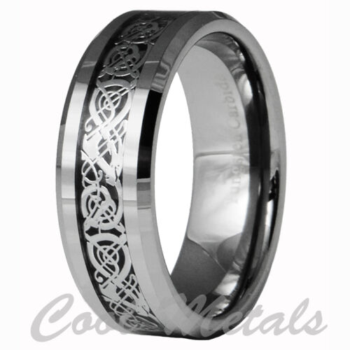 Dragon Tungsten Carbide Celtic Ring Mens Jewelry Wedding Band Silver New 7 -15 in Jewelry & Watches, Men's Jewelry, Rings | eBay