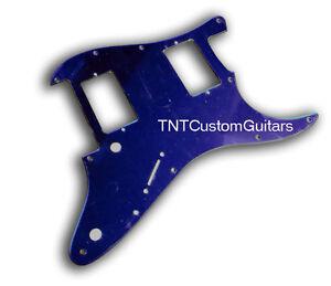 Dragonfire-Strat-Floyd-Rose-FR-Pickguard-HH-2-Hum-BLUE-MIRROR-Fits-Fender