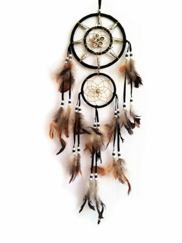 """Dream Catcher with feather wall hanging decoration ornament-22"""" Long in Collectibles, Cultures & Ethnicities, Native American: US 