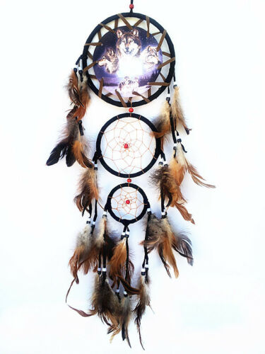 "Dream Catcher with feathers wall hanging decoration ornament-27"" Long in Collectibles, Cultures & Ethnicities, Native American: US 
