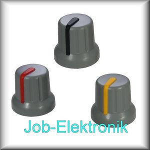 Drehknopf-Potiknopf-Stellknopf-Einstellknopf-grau-schwarz-gelb-rot-s5sgr