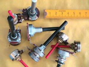 Drehpoti-Sortiment-470-Ohm-bis-10KOhm-Mono-Stereo-10-Stueck-10032
