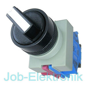Drehschalter-Schalter-2-Positionen-1-Schliesser-1-Offner-22mm-IDEC-Japan