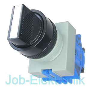 Drehschalter-Schalter-3-Positionen-2-Schliesser-22mm-IDEC-Japan
