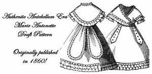 Free Dress Patterns  Girls on Dress Pattern Antebellum Civil War Girls Draft 1860   Ebay