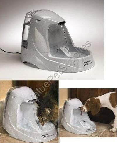 Drinkwell Dog Cat Pet Platinum Water Fountain Oz