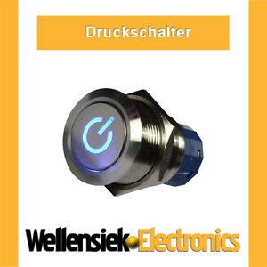 Druckschalter-Schalter-9V-12V-230V-Wippschalter-Led-blau-vandalismusschalter