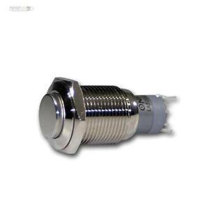 Drucktaster-230V-3A-Offner-Schliesser-Klingeltaster-Taster-Tastknopf-Metall