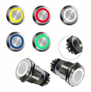Drucktaster-Edelstahl-Hupknopf-Klingeltaster-Klingelknopf-Led-beleuchtet