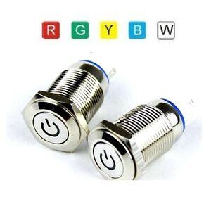 Drucktaster-Power-LED-Druckschalter-Knopf-Push-Switch-Klingeltaster-Einschalter