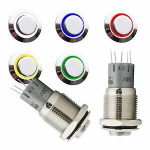 Drucktaster-Taster-6V-9V-12V-230V-Klingeltaster-Klingelknopf-Taster-mit-LED