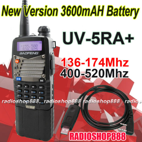 Dual Band U/V Radio BAOFENG UV-5RA+II Plus New Version 136-174/400-520Mhz+ USB in Consumer Electronics, Radio Communication, Ham, Amateur Radio | eBay