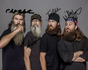 group signed 8x10 photo rp willie si jase phil robertson commander