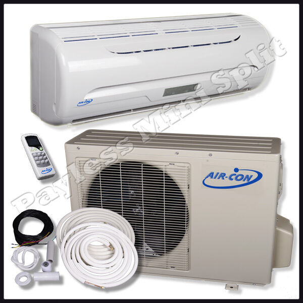 Mini Split Air Conditioner Heat Pump Air Con 12 000 BTU AC Unit