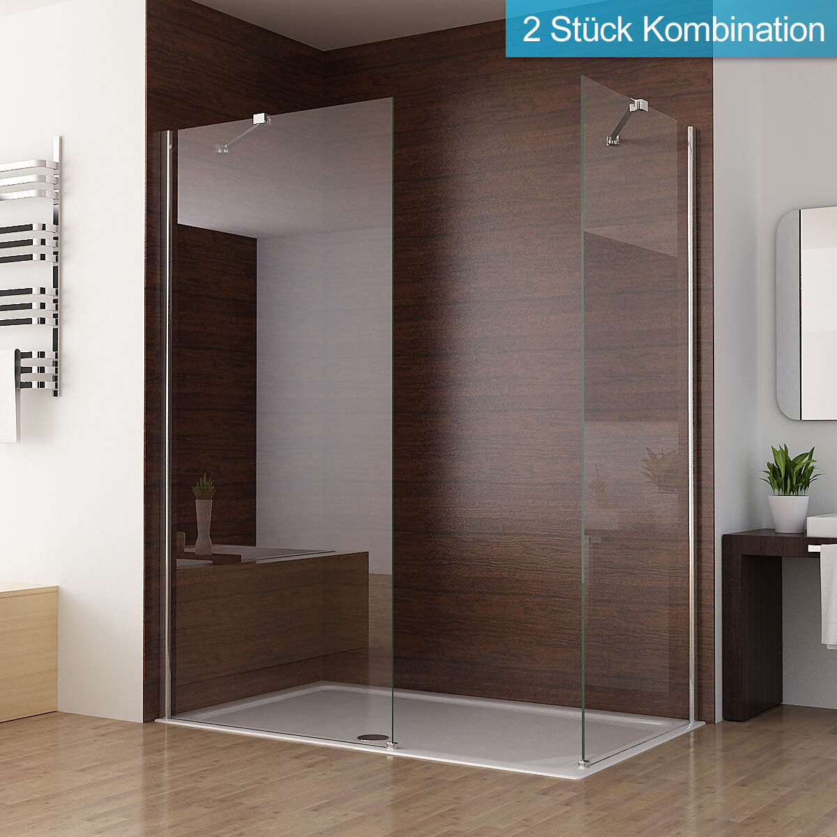 duschabtrennung walk in duschwand seitenwand dusche duschtrennwand 70 90 x 195cm ebay. Black Bedroom Furniture Sets. Home Design Ideas