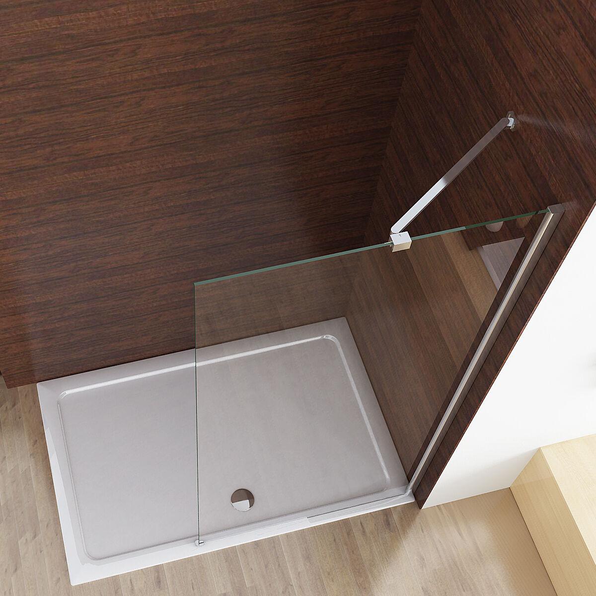 walk in dusche seitenwand duschwand duschtrennwand duschabtrennung nano esg glas ebay. Black Bedroom Furniture Sets. Home Design Ideas