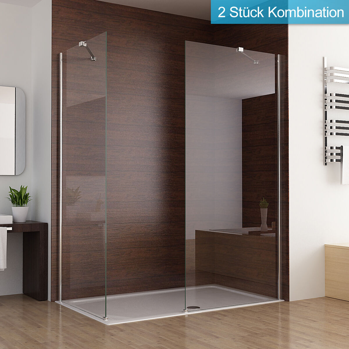 walk in dusche duschabtrennung duschwand seitenwand nano glas 80 x 195 cm sa ebay. Black Bedroom Furniture Sets. Home Design Ideas