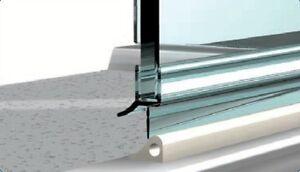 duschdichtung dichtung schwallschutz duschwand dusche duschkabine ebay. Black Bedroom Furniture Sets. Home Design Ideas