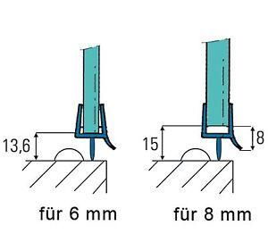 duschdichtung ersatzdichtung wasserabweiser f r 6 8 mm glas 8 00 meter ebay. Black Bedroom Furniture Sets. Home Design Ideas