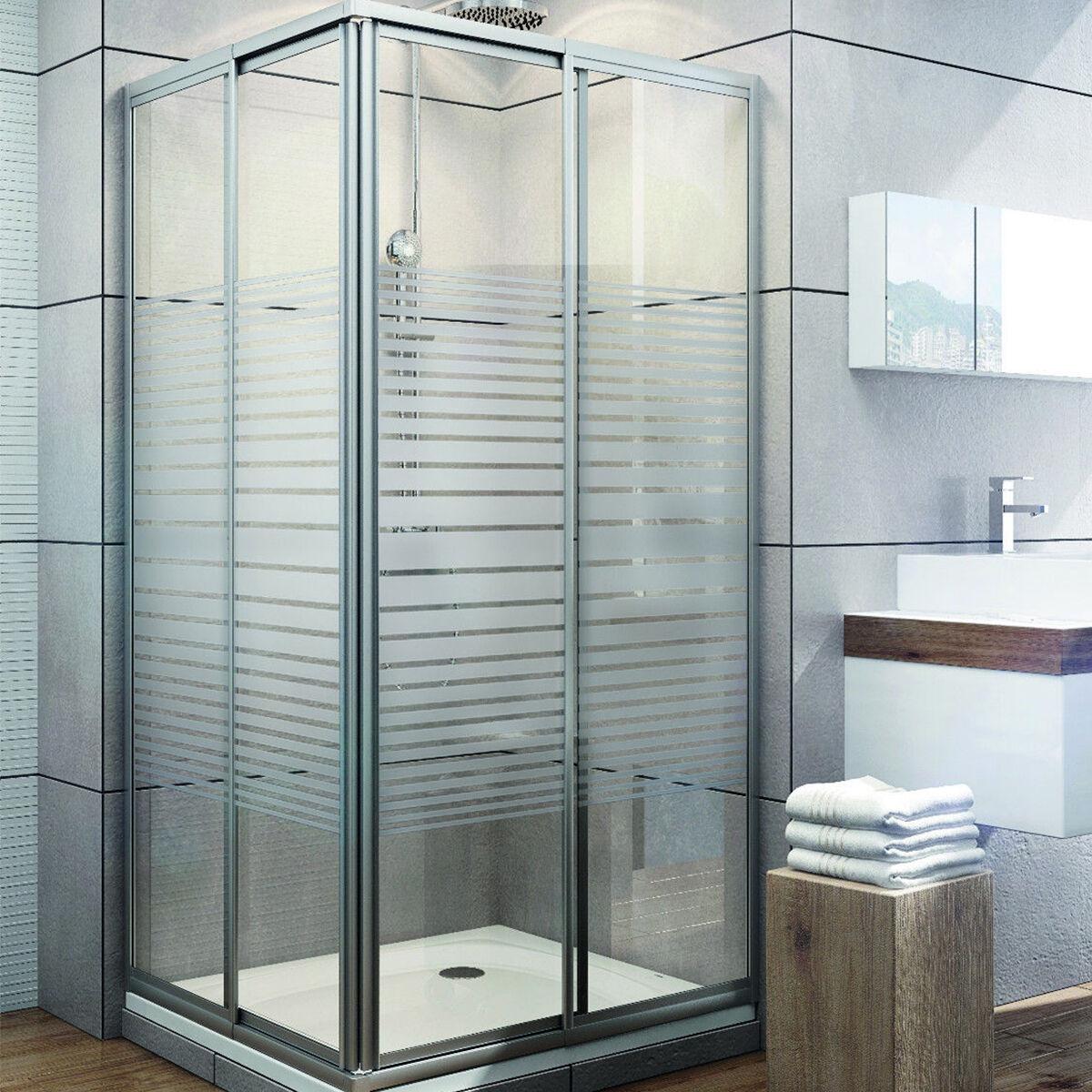 dusche duschkabine duschabtrennung eckdusche mit schiebet r eckig aus glas 180cm. Black Bedroom Furniture Sets. Home Design Ideas