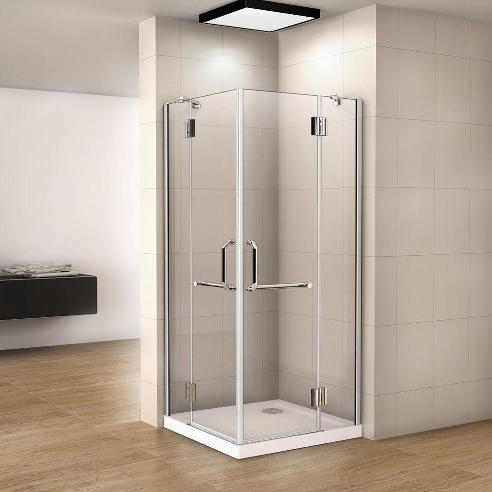 duschkabine runddusche duschabtrennung dusche esg glas viertelkreis 90x90 80x80 ebay. Black Bedroom Furniture Sets. Home Design Ideas