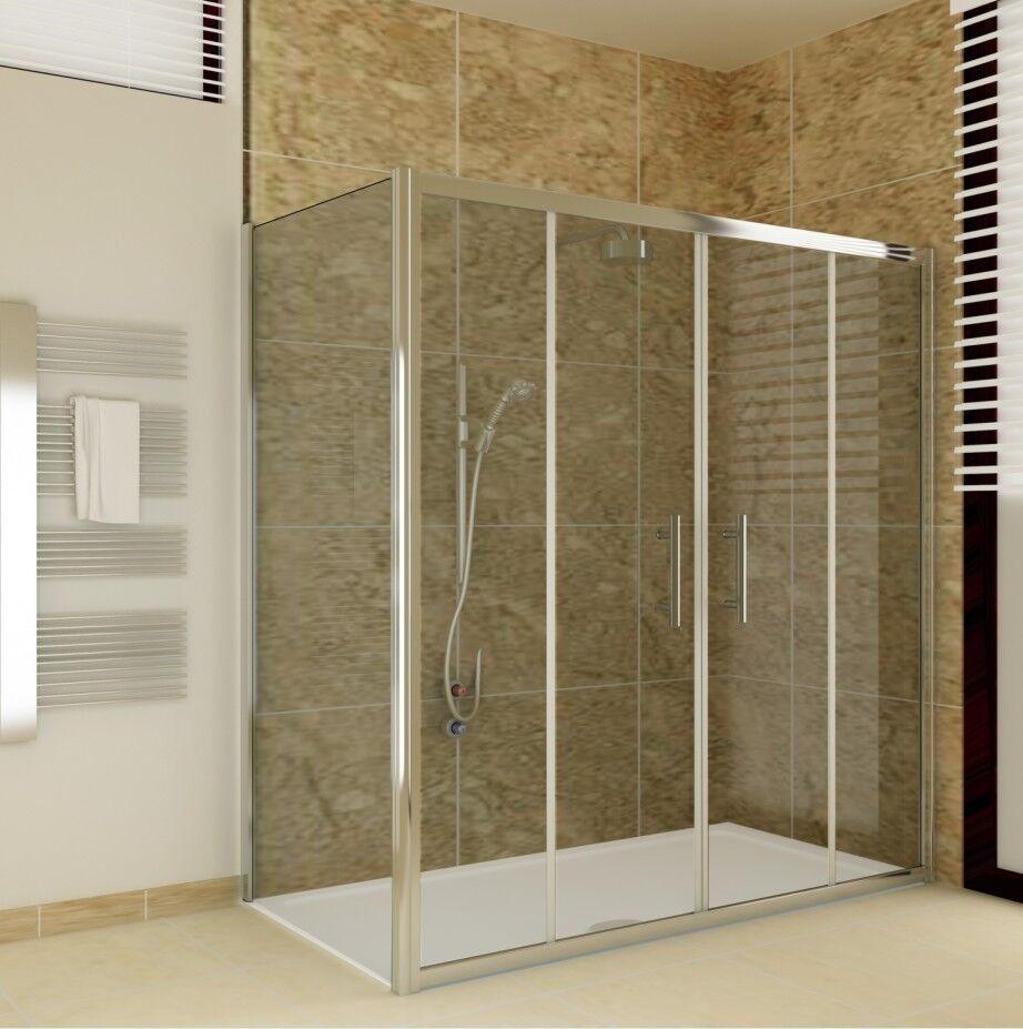 ... Duschkabine 180°Schwingtür Nischentür Pendeltür Echtglas Dusche