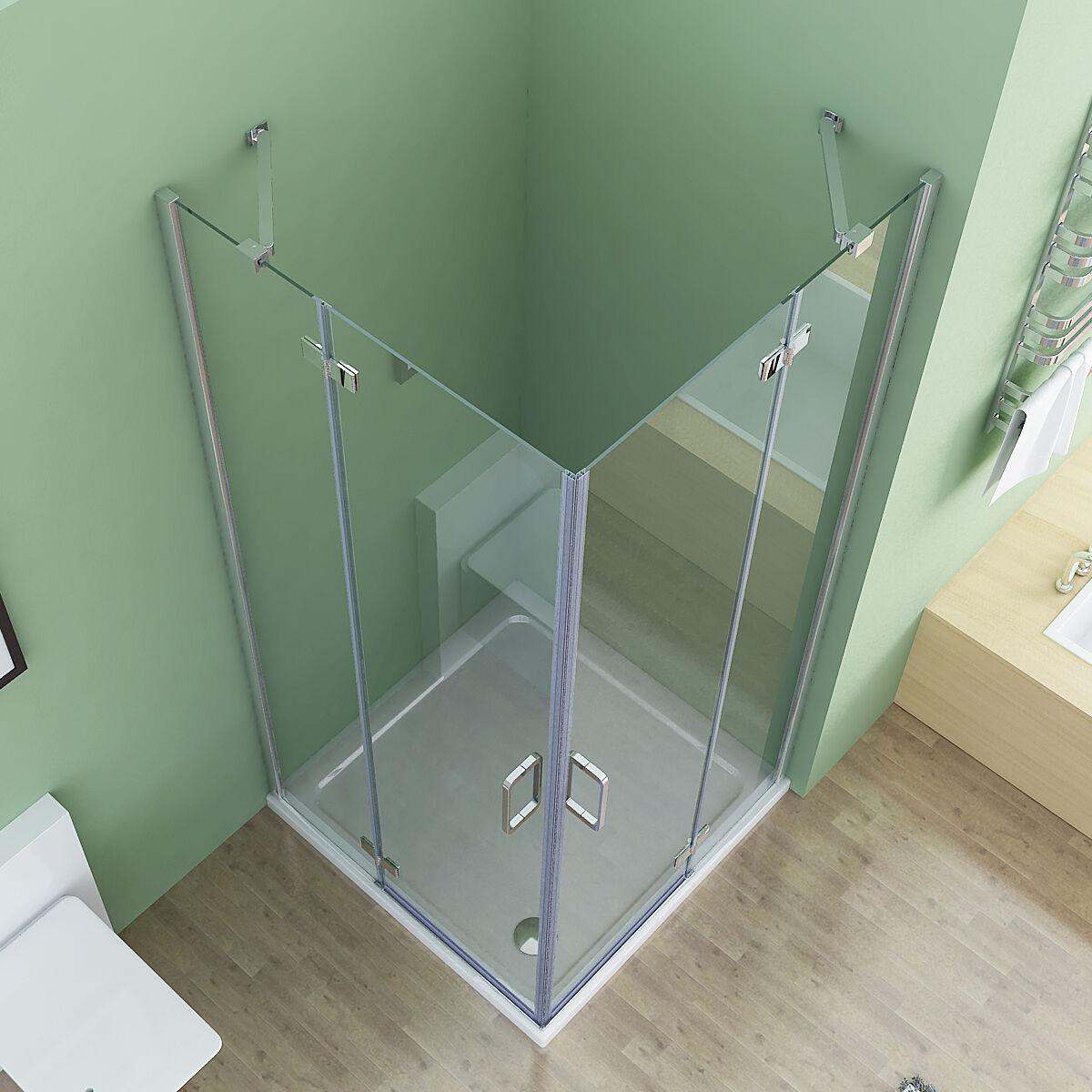 75 x 75 cm duschkabine eckeinstieg duschabtrennung dusche duschwand echtglas 195 ebay. Black Bedroom Furniture Sets. Home Design Ideas