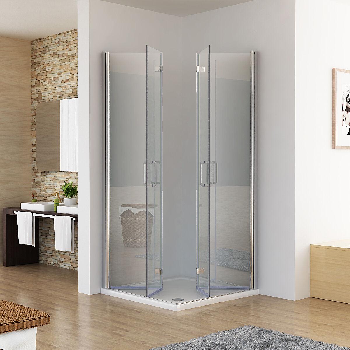 duschkabine eckeinstieg dusche 180 faltt r duschwand duschabtrennung nano esg ebay. Black Bedroom Furniture Sets. Home Design Ideas