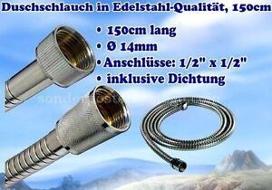 Duschschlauch-Edelstahl-Schlauch-Hand-Brause-Dusche-Armatur-Sschlauch-1-5-m-K1