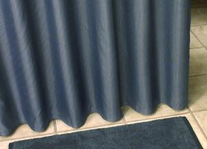 duschvorhang textil 180x230 anthrazit streifen mit schlaufenband grau schwarz ebay. Black Bedroom Furniture Sets. Home Design Ideas