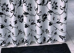 duschvorhang schwarz textil verschiedene ma e und design. Black Bedroom Furniture Sets. Home Design Ideas