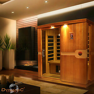 , Dynamic FAR Infrared 3 Person Sauna, MP3 Aux, 8 Carbon Panels, FREE