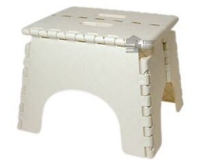 E-Zee Multi-Purpose Folding  Step Stool White, Heavy Duty